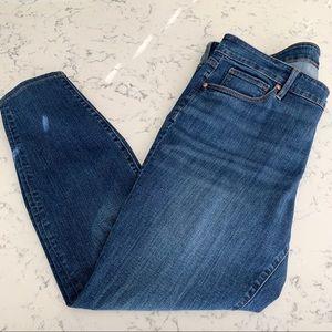 LOFT Plus Modern skinny blue jeans